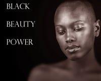 黑色、秀丽和力量 免版税库存照片