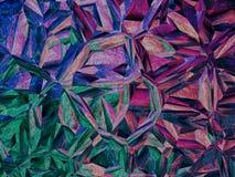 紫色七巧板摘要背景 免版税库存照片