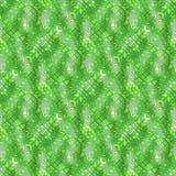 绿色七高八低的表面上的马赛克装饰背景 向量例证