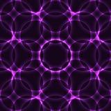 紫色万花筒圈子无缝的背景 图库摄影