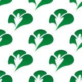 绿色三叶草离开无缝的样式 免版税库存图片