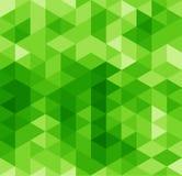 绿色三角摘要无缝的样式 免版税库存图片