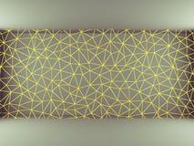 黄色三角网 库存图片