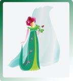 紫色上升了 公主颜色 也corel凹道例证向量 免版税库存图片