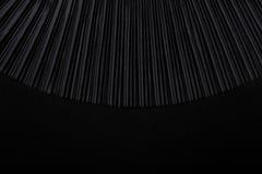 黑色与空的地方的被打褶的织品 免版税图库摄影
