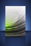 绿色专业企业飞行物模板/横幅 库存照片