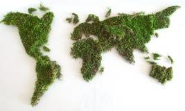 绿色世界地图 免版税库存图片