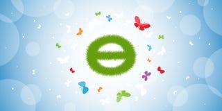 绿色世界地球日标志 库存图片