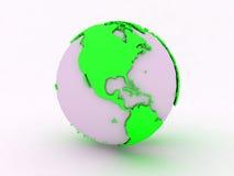 绿色世界美国白色 免版税库存图片