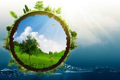 绿色世界 库存图片