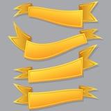 黄色丝带集合 库存图片