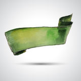 绿色丝带 免版税图库摄影