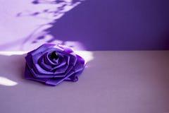 紫色丝绸上升了 免版税库存图片