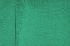 绿色丝织物 免版税图库摄影