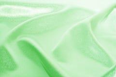 绿色丝绸 库存图片