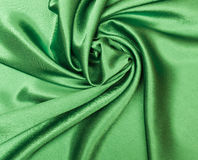 绿色丝绸 图库摄影