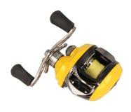 黄色乘算器渔卷轴 库存图片