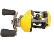 黄色乘算器渔卷轴 图库摄影