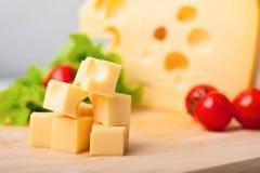 黄色乳酪 免版税库存照片
