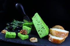绿色乳酪pesto用迷迭香 库存照片