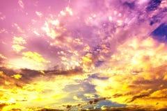黄色云彩 库存图片