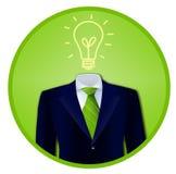 绿色企业想法徽章 库存照片