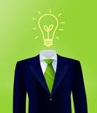 绿色企业想法 免版税库存照片