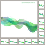 绿色企业波浪小册子模板集合 免版税库存照片