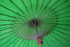 绿色伞 免版税库存照片