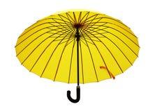 黄色伞 库存照片
