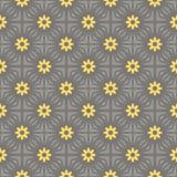 黄色传染媒介无缝的样式灰色和 库存图片