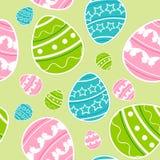 绿色复活节无缝的样式 免版税库存图片