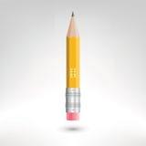 黄色传染媒介铅笔 库存图片