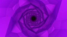 紫色低多几何背景 免版税库存照片