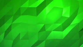 绿色低多抽象背景 无缝loopable 库存例证