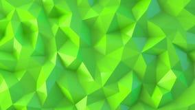 绿色低多抽象背景 股票视频
