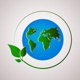 绿色例证行星向量 库存图片