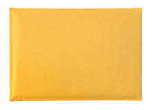 黄色信包 免版税图库摄影