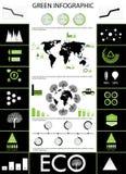 绿色信息图表 免版税图库摄影