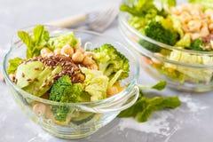 绿色健康沙拉 免版税库存图片
