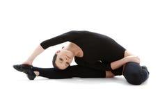 3黑色健身紧身连衣裤 免版税库存图片