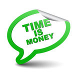 绿色元素泡影时间是金钱 库存图片