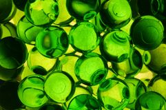 绿色充满香气的胶凝体球 免版税图库摄影