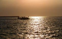 黑色克里米亚海运日落乌克兰 库存图片