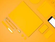 黄色公司本体大模型 免版税图库摄影