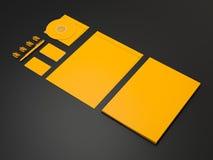 黄色公司ID大模型 免版税库存照片