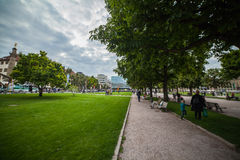 绿色公园在斯图加特 免版税图库摄影