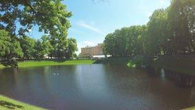 绿色公园夏天庭院 股票视频