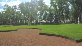 绿色公园夏天庭院 影视素材