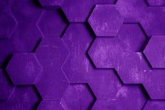 紫色六角形背景纹理 免版税库存图片
